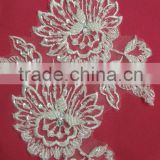 Beaded decoration stock lace appliques wholesale
