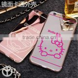 back cover case for iphone 5/5s/6/6s plus series mirror plating cartoon TPU + PC phone case