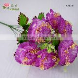 9 heads new model simunation lalic flower silk fabric cheap