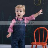 DB1454 dave bella 2014 autumn baby pants children long pants trousers baby jeans overalls bib jeans