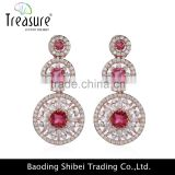 Fashion Crystal Diamond Silver Circle Dangel Earing New Design in 2016