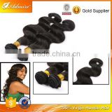 Remy virgin human hair unprocessed Brazilian hair, 100 pct no mix silky trio body wave for full head