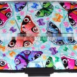 Luckiplus Inventory Colorful Butterflies Aluminum Wallets Identity Theft Blocker                                                                         Quality Choice