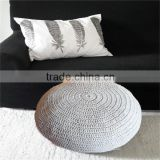 Crochet Knitted Pouf knitted pouf ottoman Round Cotton pouf