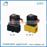 Plastic Solenoid Valve 24v dc solenoid valve / 2 way/12V,24V DC or 110V,220V AC/ water,air,gas,oil