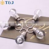 >>>Silver Bright Creative LED Flash Lights Mini Bulb Torch Chain Keyring Birthday Gift Design Keychain Keyring Clear Lamp/