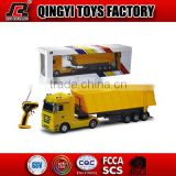 HOT!!1:32 rc container truck Mercedes-Benz licensed 6 CH RC dump truck for sale from shantou chenghai factory