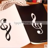 No870 Musical Notes logo cover english writing sewing binding notebook                                                                         Quality Choice