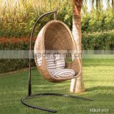Best Selling Outdoor Furniture Hanging Chair Egg Chair-Swing Chair (Steel frame with power coated, waterproof fabric hand woven)