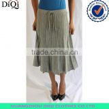 fancy wholesale loose long sweater pleated skirt with belt for women