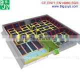 Hot Sale Large Commercial Trampolines with enclsure for rent New Product for Kids Play Center
