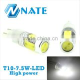 2014 Auto decorations white T10 7.5W led super bright light bulbs