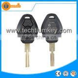 with 4 track blade and logo and words on the key shell 2 button key for BMW E36 E38 E39 E46