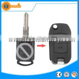 black plastic 2 button replacable flip remote key case with Left blade without logo for Opel corsa meriva zafira