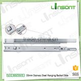 China supplier 35mm stainless steel hanging basket telescopic channel kitchen drawer slides
