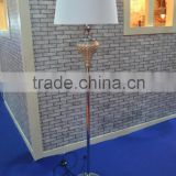 round metal base elegant decorative floor lamp with glass peg-top shaped and white barrel lamp shade CE UL certificate