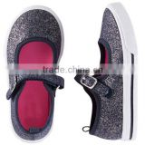 china canvas shoes navy foil print upper pvc sole injection toddler cheap casual shoes baby girl shoes kids 2016
