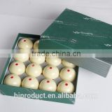 "57.2mm (2-1/4"") Standard size high quality resin Six dot Pool cue ball/ White ball/ Factory promotion"