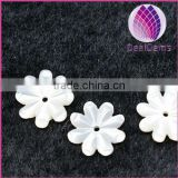 10mm white shell carve snowflake beads for jewerly finding