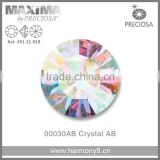 Original PRECIOSA MC Chaton Maxima, Crystal AB Point Back Rhinetsone