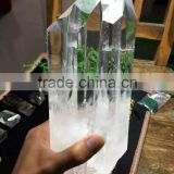 Wholesale natural clear white crystal piont/wand