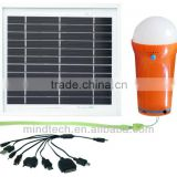 3W solar lighting kit with led bulb /portable solar light with lithium battery solar home lighting system with USB port