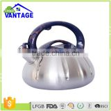 Durable non-electric stainless steel whistling tea kettle pour over induction coffee kettle