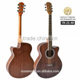 Fashion mahogany neck celluloid binding D-shape spruce&catalpa plywood acoustic guitar The rose 2140