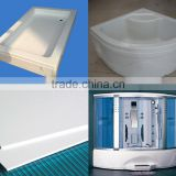 white bage milky color abs pmma sheet for bathtub and shower room shower enclosure shower canbin