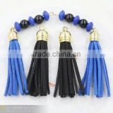 clothing component finding jewelry parts tassel in suede material