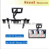 "Cold-rolled bracket tv wall mount higed Steel LCD TV bracket,TV Wall Mount Bracket for 30-60"" Plasma LCD LED black"