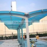 Prefab transparent car parking canopy shelter New!