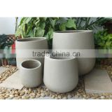 mold produced concrete flower pot