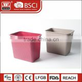 Home bedroom new mini used trash container plastic recycle waste garbage bin for trash box
