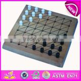 2015 Top wooden checker toy for kids,Wooden checker board games for children,wooden checker set for family board games WJ277124