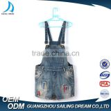 Wholesale overall new design colorful printing kids bib pants new style fashion girls jeans