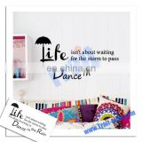 Dance in the rain wall stickers English Wall Stickers Wall Quotes Decals