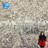 100% Polyester Weft Plain Ostrich Plush Fabric