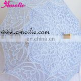 Light blue straight cocktail lace umbrella