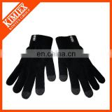 Custom black smart promotion knit touch screen gloves