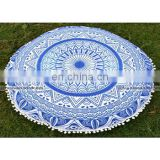 Mandala Tapestry Floor Pillows Cotton Round Cushion Cover Ottoman Decorative Poufs