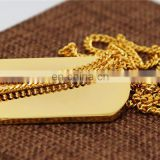 Hot blank dog tag wholesale brass gold plating thick high end durable metal pet dog tags