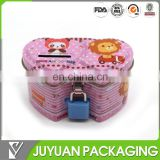 Tin coin bank money box with lock and key factory