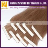Factory wholesale super tape hair extensions pu skin weft remy hair extensions