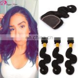 Hot sale cheap price 7a peruvian virgin hair bundles with lace closure