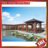 outdoor park garden wood look style alu aluminum metal gazebo pavilion pagoda gloriette cover shelter