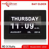Hot sell High definition digital big screen calendar clock with day of week for elder
