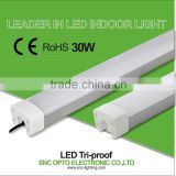 IP65 600mm led tri-proof light 30w for tunnel light/warehouse light