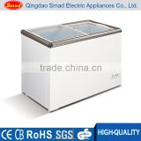 200L flat glass door chest freezer with thermometer