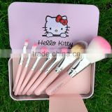 Beauty Needs Perfect Cosmetics makeup Brush Sets Cute Design hello kitty 7Pcs Makeup Brushes Set